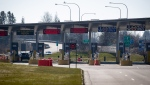 The U.S. port of entry into Blaine, Wash., is seen at a very quiet Douglas-Peace Arch border crossing, amid concerns about the spread of the coronavirus in Surrey, B.C., on Wednesday, March 18, 2020. (THE CANADIAN PRESS / Darryl Dyck)