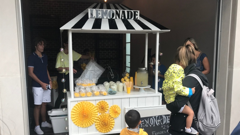 The W.E. Care For Kid's Lemonade Brigade Duel Challenge in Lakeshore, Ont. on Sunday, Aug. 2 2020. (Angelo Aversa/CTV Windsor)