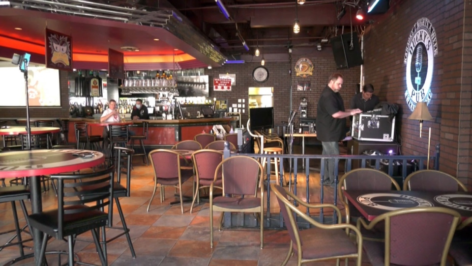 Southwest Calgary's Ducky's Pub has reopened alongside other bars and restaurants in the city but, without karaoke, the owner says the business has lost its lustre.