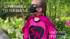 Super Nahla is suited up to help Canada fight COVID-19. (Source: Bill Brown)