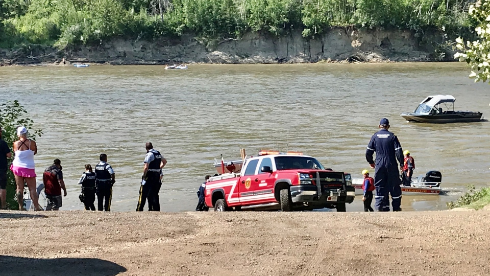 Person taken the North Saskatchewan River