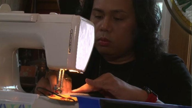 Rhoderic Sia started his sewing company JustAprons & Beyond 10 years ago. Growing up in the Philippines, his mother taught him to sew and he made it his career. (CTV Regina)