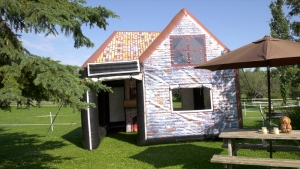 Inflatable garden pub for rent in Edmonton.