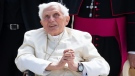 "Former pope Benedict XVI became seriously ill after visiting his sick brother in Germany in June and is ""extremely frail"", reports say. (AFP)"