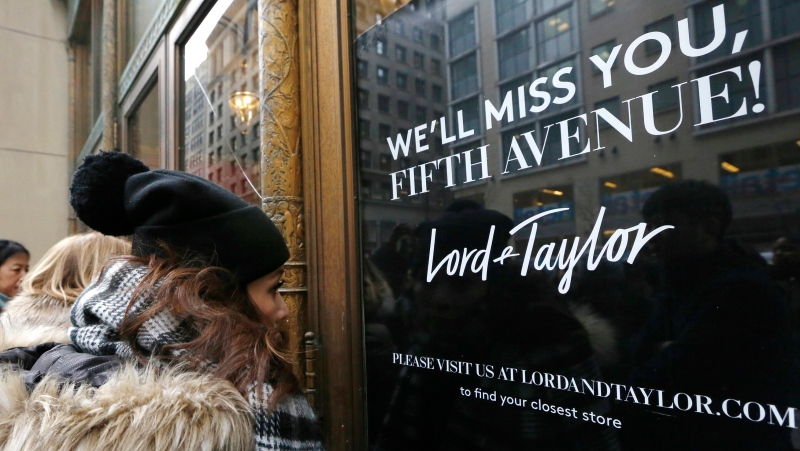 New York landmark retailer Lord & Taylor has filed for bankruptcy, joining a growing list of retailers flummoxed by the pandemic. (AP Photo/Kathy Willens, File)
