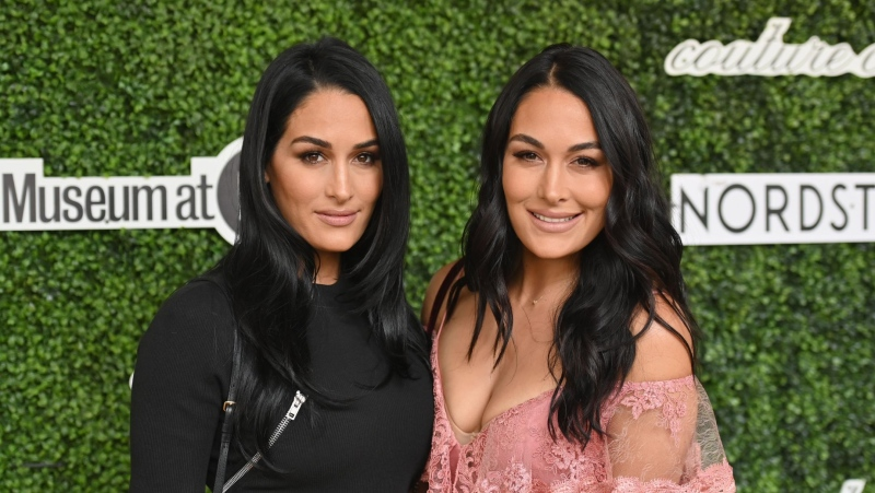 Brie and Nikki Bella gave birth on almost the same day. (ANGELA WEISS/AFP/AFP via Getty Images/CNN)
