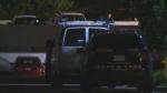 Waterloo Regional Police on scene of shots fire on Vanier Drive. (Adam Marsh / CTV News)