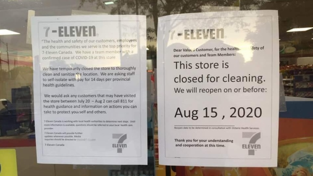 7-11 store in Chatham, Ont. is closed after an employee contracted COVID-19.