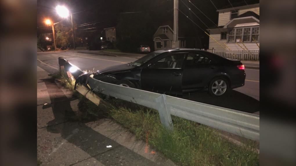 Kathleen Street guard rail crash