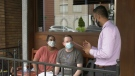 A restaurant in Toronto collects contact information from patrons. (Beth Macdonell/CTV News Toronto)
