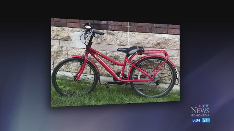 Special bike stolen from Edmonton girl