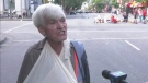 Senior citizen blames broke arm on police
