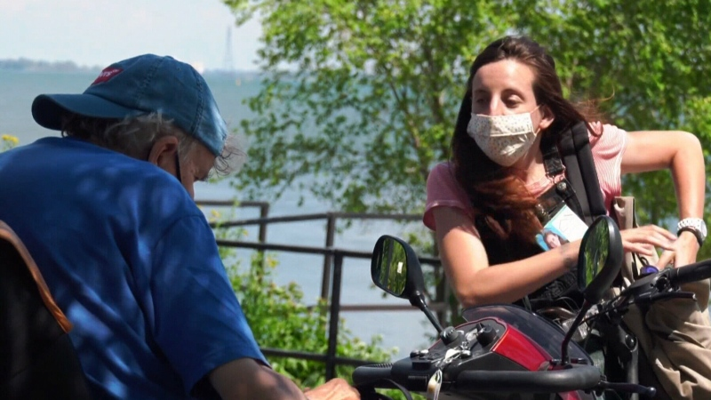 Public health authorities are sending out ambassadors to grocery stores and parks to pass out informational flyers on the importance of physical distancing, wearing a mask and to counter some of the misinformation that has been circulating.
