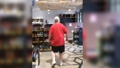 A man went on a tirade in an Edmonton liquor store on Aug. 2, 2020.