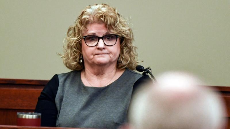 In this Feb. 14, 2020, file photo, former Michigan State gymnastics coach Kathie Klages testifies in Lansing, Mich. (Matthew Dae Smith/Lansing State Journal via AP, File)