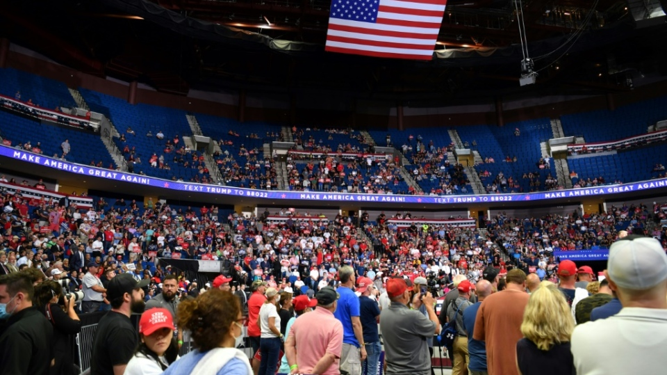 Turnout at Trump's Tulsa rally were far below expectations, with TikTok and K-pop fans taking credit. (AFP)