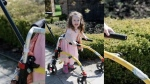 Natalie Ouellette, 4, is scene with her custom walker in this undated photo. (Courtesy Emily Ouellette)