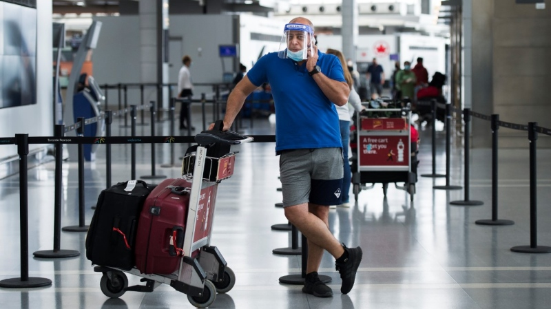 The federal government says temperature screening stations are set up at airports in Vancouver, Calgary, Toronto and Montreal.THE CANADIAN PRESS/Nathan Denette​