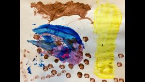 """""""A tornado behind a house"""" - Owen D., 5 years old, St. Elizabeth Ann Seton School (SEAS)"""