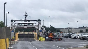 OPP are looking for a man who went overboard from the Wolfe Island Ferry Monday, Aug. 3, 2020. (Kimberley Johnson / CTV News Ottawa)