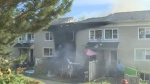 Crews respond to a fire in the Halifax community of Mulgrave Park on Aug. 4, 2020.