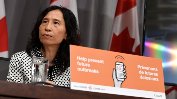 Chief Public Health Officer of Canada Dr. Theresa Tam speaks at a news conference on the COVID-19 pandemic on Parliament Hill in Ottawa, on Friday, July 31, 2020. THE CANADIAN PRESS/Justin Tang