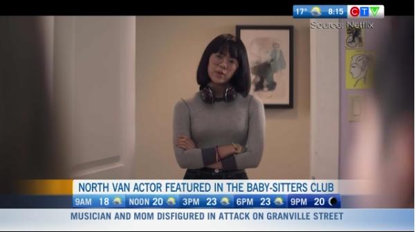 North Van teen stars in Baby-Sitters Club, Netflix