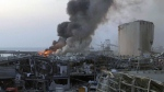 Large plumes of smoke seen after Beirut explosion