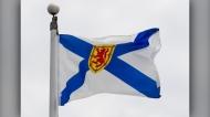 Nova Scotia's provincial flag flies on a flag pole in Ottawa, Friday July 3, 2020. THE CANADIAN PRESS/Adrian Wyld