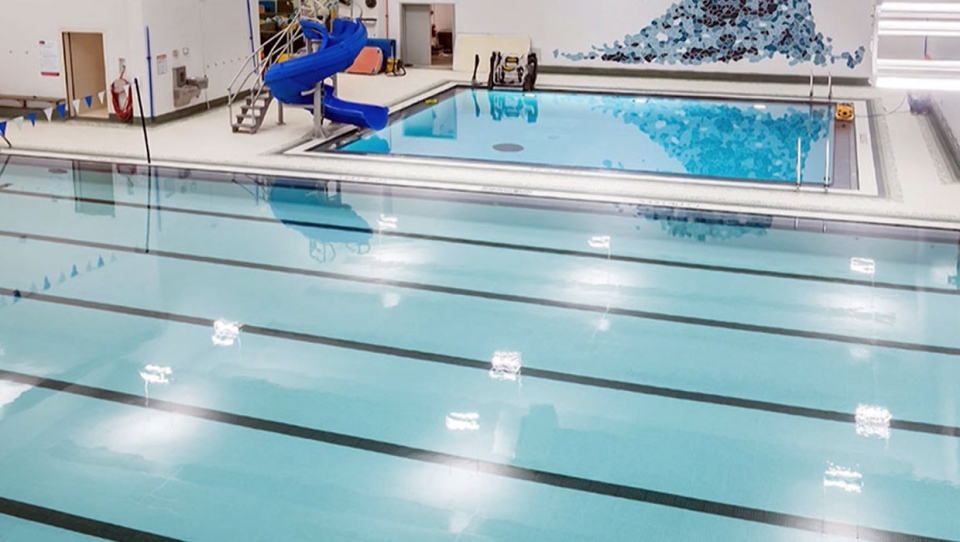 The newly renovated Sir Winston Churchill pool has a number of new features for clients. (Supplied/City of Calgary)