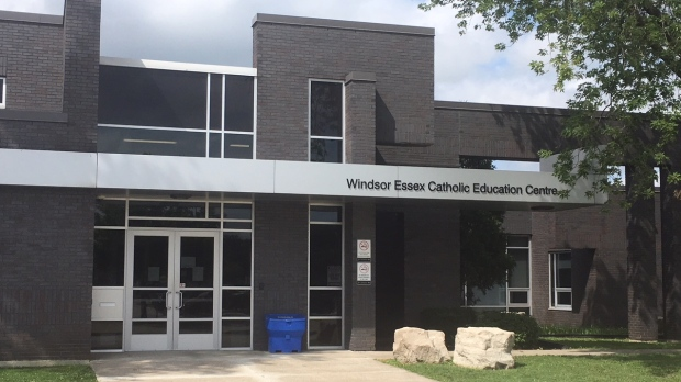 The Windsor-Essex Catholic District School Board main office in Windsor, Ont., on Tuesday, Aug, 4, 2020. (Chris Campbell / CTV Windsor)