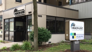 The Windsor-Essex County Health Unit in Windsor, Ont., on Tuesday, Aug. 4, 2020. (Chris Campbell / CTV Windsor)
