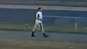 Police released an image of a person of interest wanted in connection with a violent assault in Whitby, Ont. (Durham Regional Police)