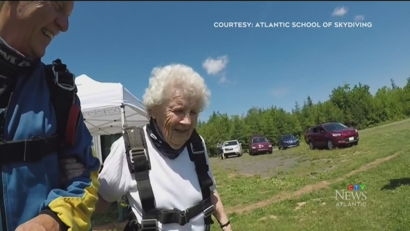 Leaps of faith: 73 and 90 year old jump out plane