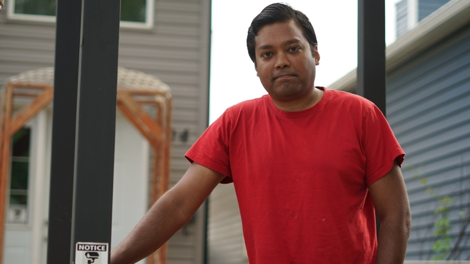 Fayaz Kadir says a property maintenance worker has vandalized his home and hurled racist remarks at him.
