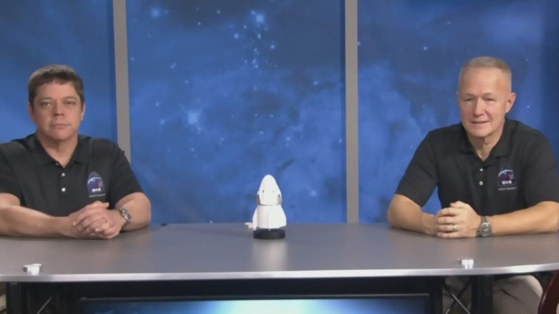 SpaceX crew Doug Hurley and Bob Behnken