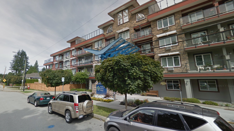 The Maple Ridge Seniors Village is seen from outside in this image from Google Street View.
