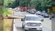 Dangerous load hits Vancouver cyclist