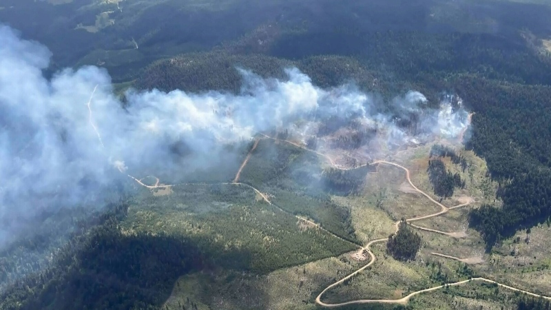 Okanagan wildfire prompts evacuation alert