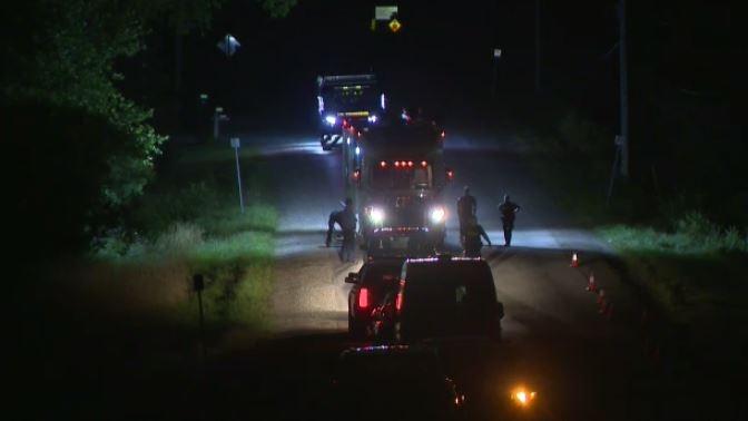 Wellington County OPP on scene of death investigation near Watson Road. (Terry Kelly / CTV News).