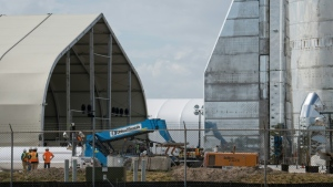 The Starship prototype was built in a few weeks by SpaceX teams on the Texas coast, in Boca Chica (pictured September 2019). (AFP)