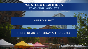August 5 weather headlines