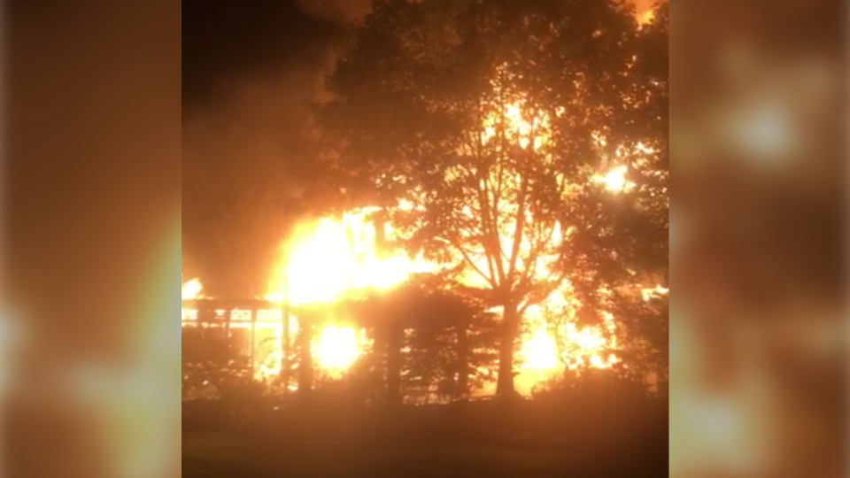 A home in Hammonds Plains, N.S. has been destroyed by an overnight fire.