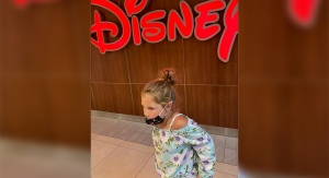 Ruby Baillargeon is seen outside the Disney Store in London, Ont. on Monday, Aug. 3, 2020. (Source: Sarah Baillargeon)