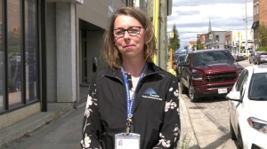 Sandra Lapajne is a public health inspector with the Porcupine Health Unit. She says receiving alerts from Canada's Food Inspection Agency to your inbox or mobile phone is a good way to stay on top of the hundreds of recalls issued every year. (Lydia Chubak/CTV News)