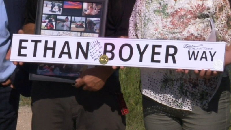 Road named to honour crash victim