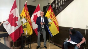 New Brunswick Premier Blaine Higgs still isn't dismissing rumours of a provincial election call, but says it won't come this week. (PHOTO: Laura Brown)