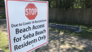 Seba Beach sign, residents only