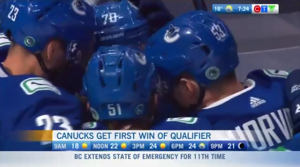 CANUCKS WIN