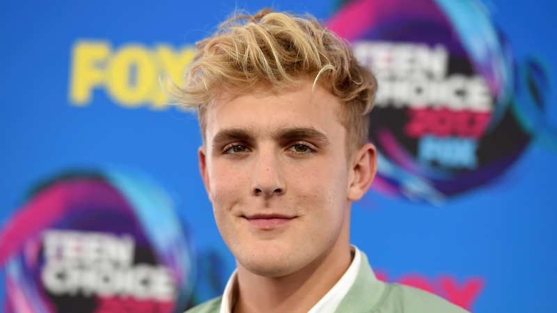 Internet personality Jake Paul arrives at the Teen Choice Awards in Los Angeles on Aug. 13, 2017. (Photo by Jordan Strauss/Invision/AP, File)